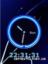 Blue clock | 240*320
