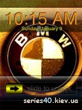 BMW Gold Clock | 240*320