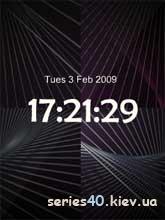 Black Abstract Clock   240*320