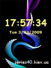 Abstract Animated Clock   240*320